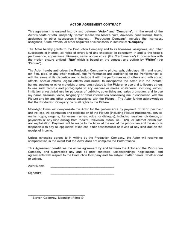 Performance Contract Templates. Assignment Contract Form For ...