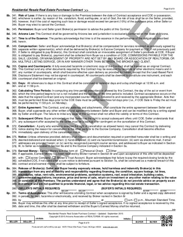 Arizona Association Of Realtors Residential Lease Agreement Form