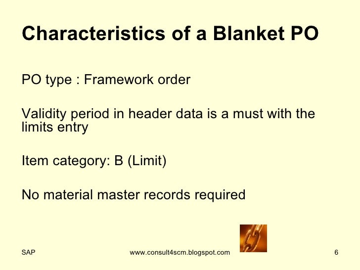 Blanket Purchase Order
