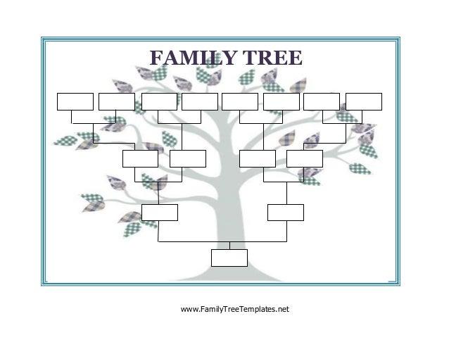 Blank family tree – Blank Family Tree
