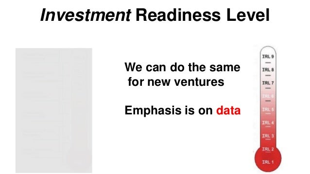 Investment Readiness: Levels 5 & 6 Validate • Product/Market fit • Right side of canvas Product/Market fit Problem/Solutio...