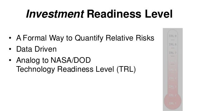 Investment Readiness: Levels 7 & 8 Validate • Left side of canvas Product/Market fit Problem/Solution  Hypotheses