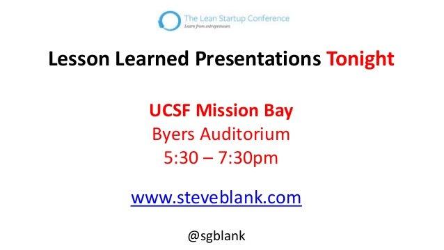 Evidence-based Entrepreneurship by Steve Blank