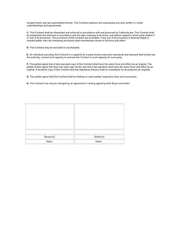 Blank sales agreement