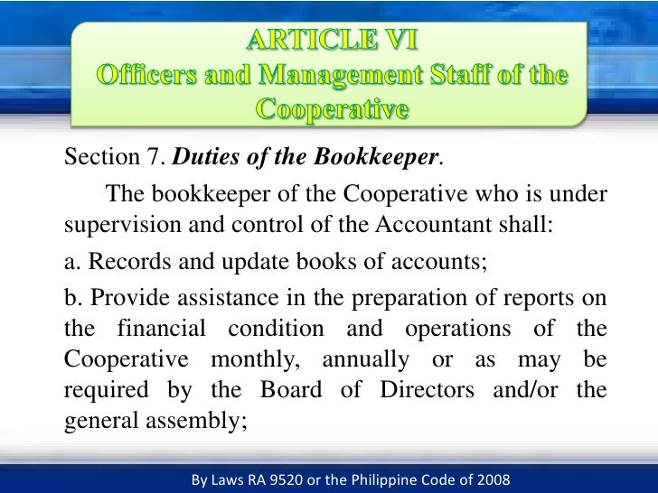 officers and management staff of the cooperative