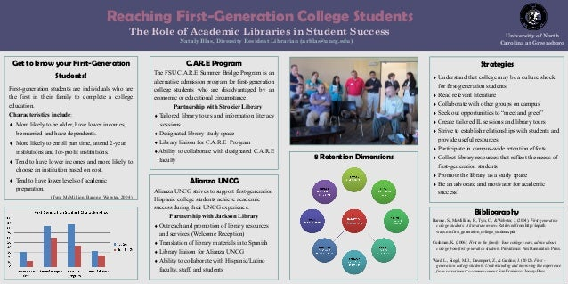 Reaching First-Generation College Students The Role of Academic Libraries in Student Success Nataly Blas, Diversity Reside...