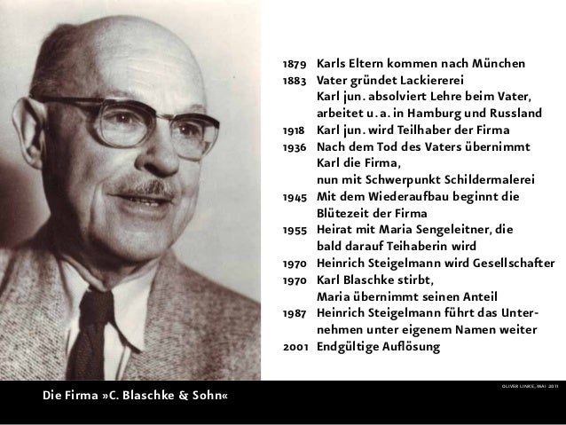 1879 Karls Eltern kommen nach München                                 1883 Vater gründet Lackiererei                    ...