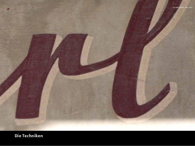 oliver linke, mai 2011Die Techniken