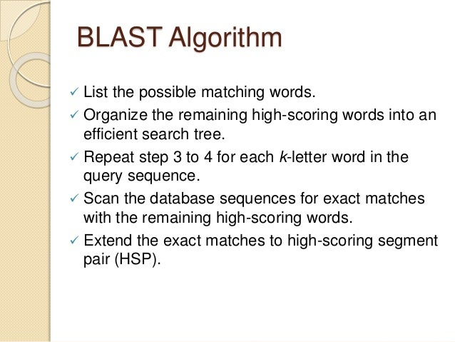 Algorithms for Sequence Alignment