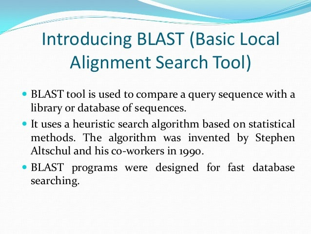 BLAST Basic Local Alignment Search T - NDSU