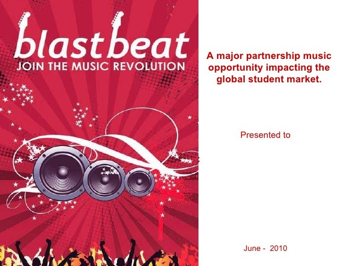 Compuor C A major partnership music opportunity impacting the global student market. Presented to June -  2010