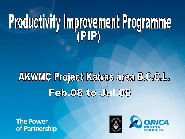 Productivity Improvement Programme A team of delegates from different subsidiaries of CIL visited Australia. Χoncept prese...