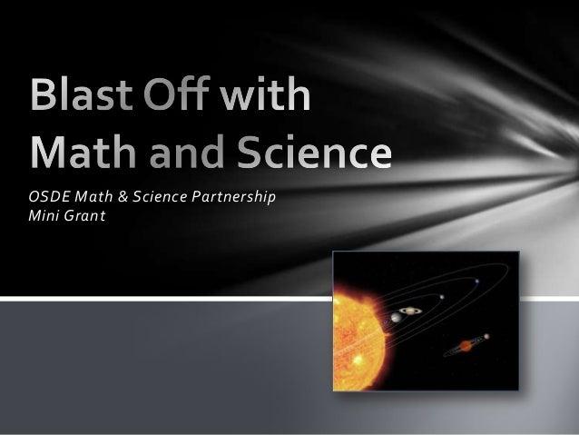 OSDE Math & Science Partnership Mini Grant