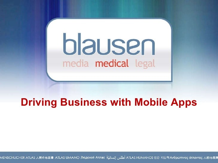 Driving Business with Mobile Apps