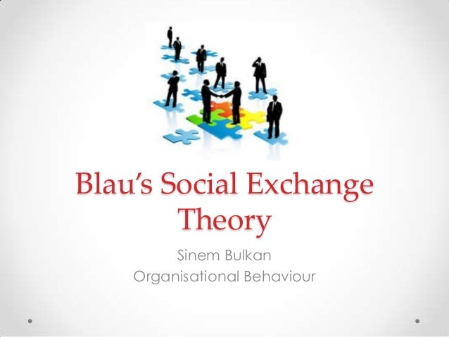 Blau's Social ExchangeTheorySinem BulkanOrganisational Behaviour