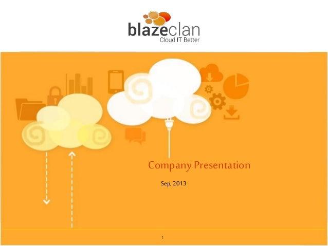 1 Company Presentation Sep, 2013