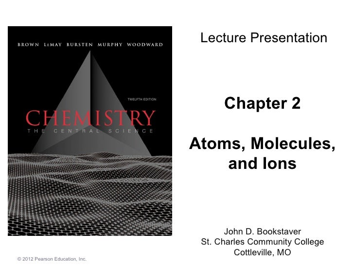 Chapter 2 Atoms, Molecules, and Ions John D. Bookstaver St. Charles Community College Cottleville, MO Lecture Presentation...