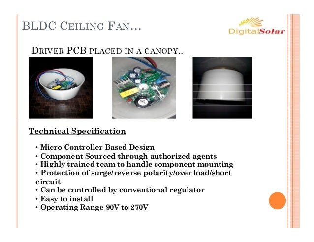 Bldc Ceiling Fan 230 V Ac Amp 12v Dc
