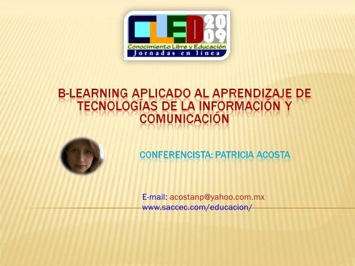 E-mail:  [email_address] www.saccec.com/educacion/