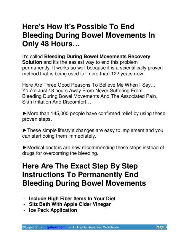 Anal bleeding bowel movement
