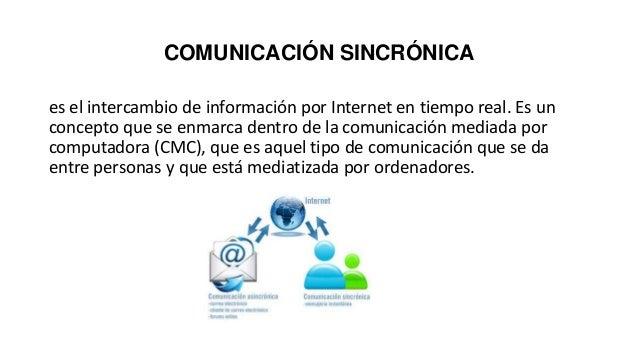 COMUNICACIÓN SINCRÓNICA es el intercambio de información por Internet en tiempo real. Es un concepto que se enmarca dentro...