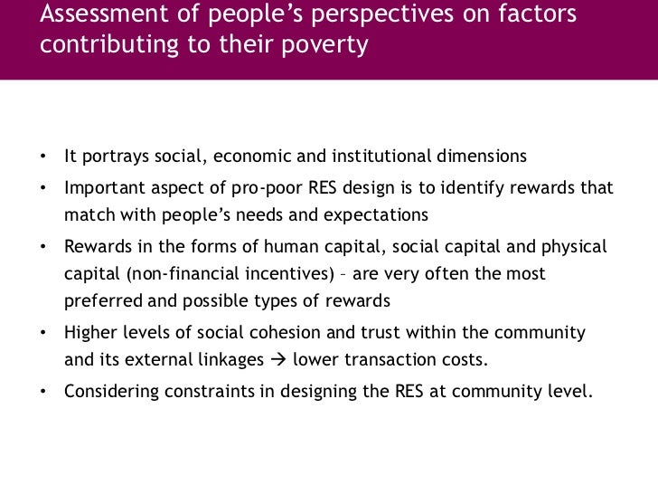 Success factors and constraints of payment and reward