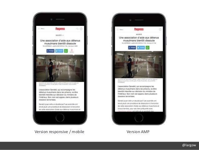 Version responsive / mobile Version AMP @largow