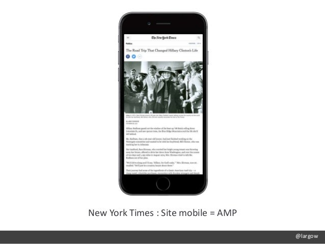 @largow New York Times : Site mobile = AMP