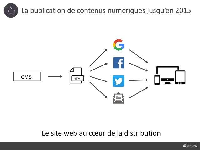 La publication de contenus numériques jusqu'en 2015 CMS HTML Le site web au cœur de la distribution @largow