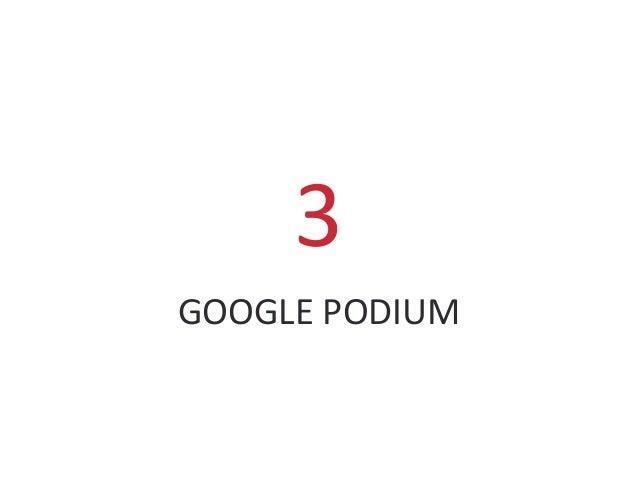 GOOGLE PODIUM 3
