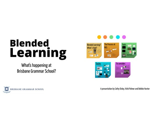 Getting the mix right: our journey to a blended learning environment