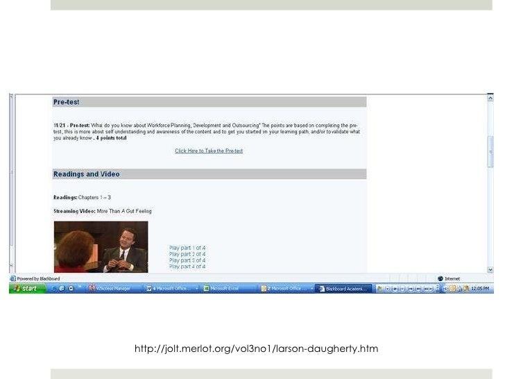 Most Blended Courses use Web 2.0 In or out of class Provide ownership,  just-in-need access, Typically free! Focus: Ex...