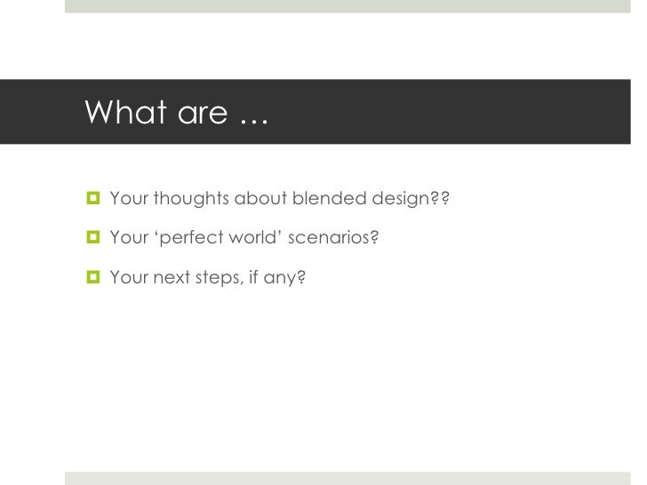 Shifting to a Blended Design