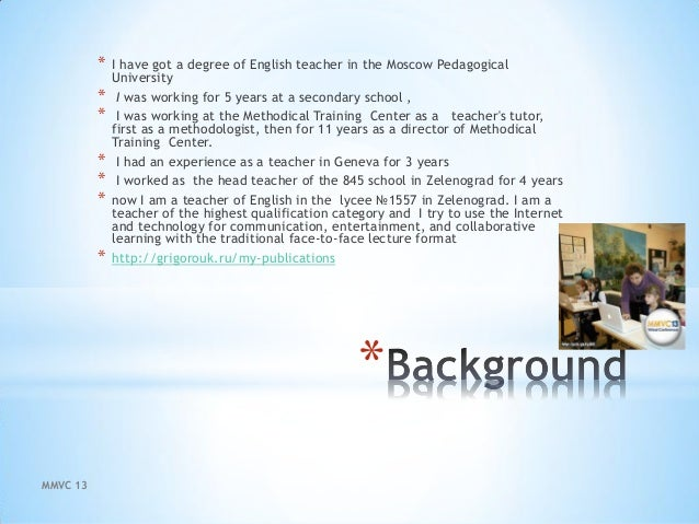 Blended learning in  education mmcv2013 Slide 3