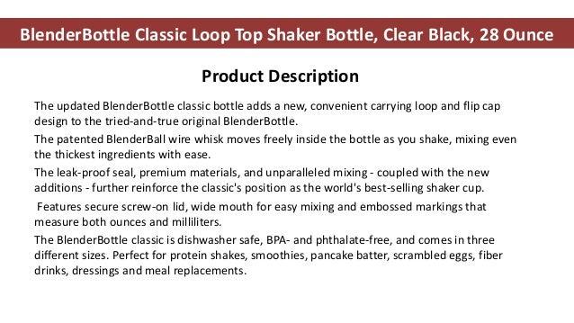 Blender bottle - blender bottle review - blender bottle sportmixer