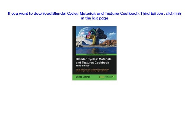 PDF~] Blender Cycles: Materials and Textures Cookbook, Third Edition