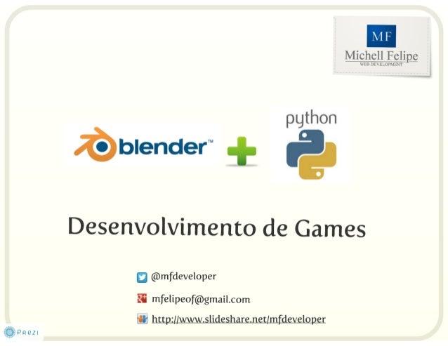 Palestra: Blender + Python -  Desenv. de games