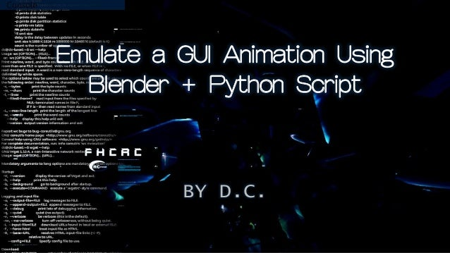 Emulate a GUI Animation Using Blender + Python Script BY D.C.