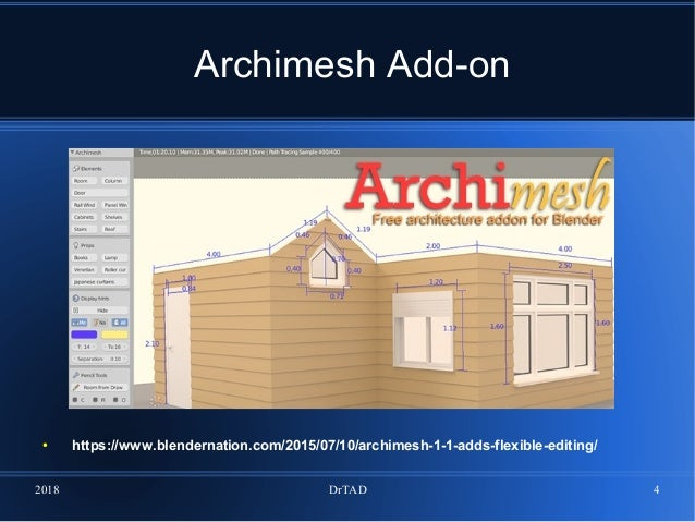 DrTAD Blender software  Example 11  Architecture  Ready