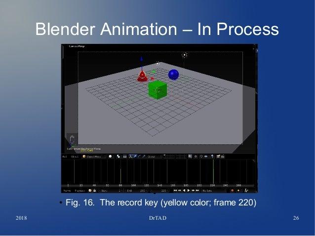 DrTAD Blender Tutorial Animation Basics - Keys - Movement