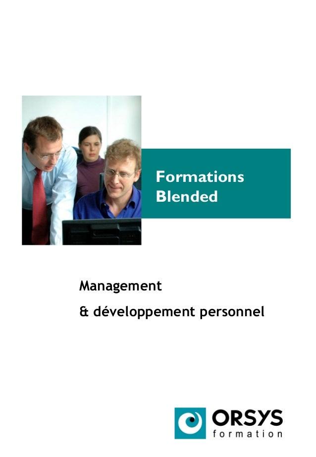 Formations Blended Management & développement personnel