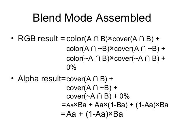Blend Modes for OpenGL