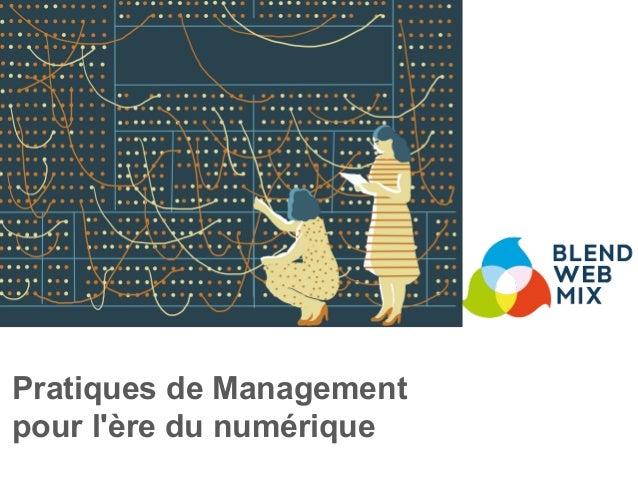Pratiques de Management pour l'ère du numérique
