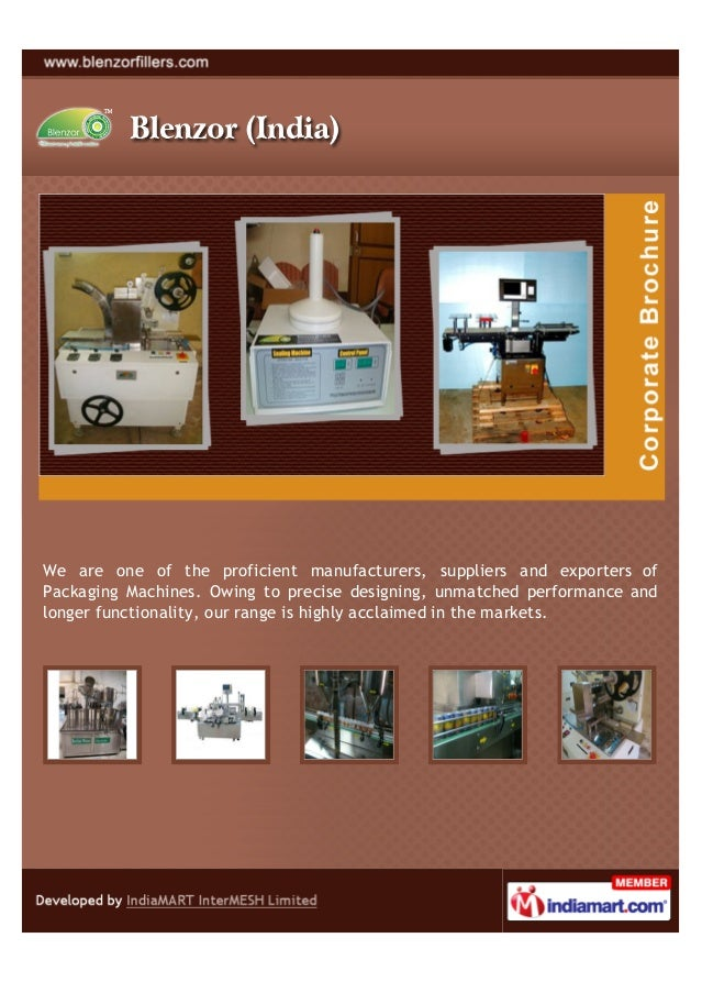 We are one of the proficient manufacturers, suppliers and exporters ofPackaging Machines. Owing to precise designing, unma...