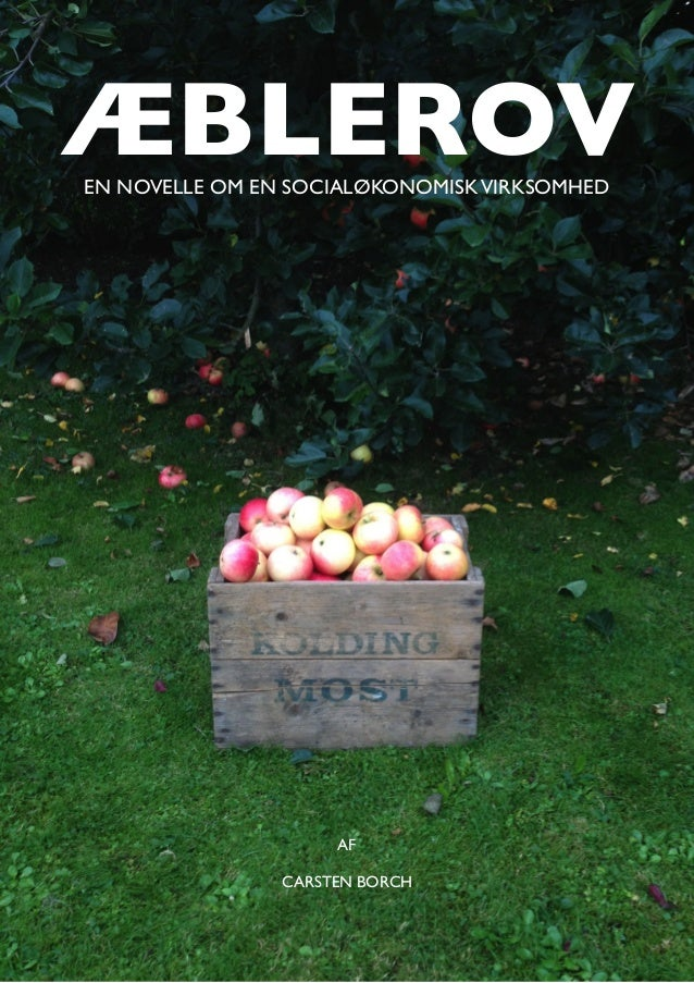 ÆBLEROV AF CARSTEN BORCH EN NOVELLE OM EN SOCIALØKONOMISKVIRKSOMHED