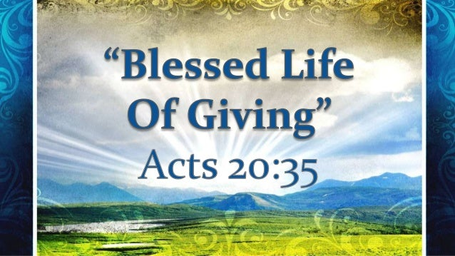 Blessed Life of Giving