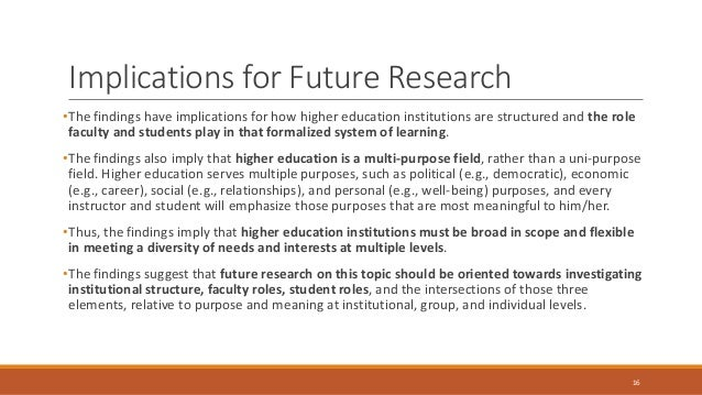 research implications and recommendations example