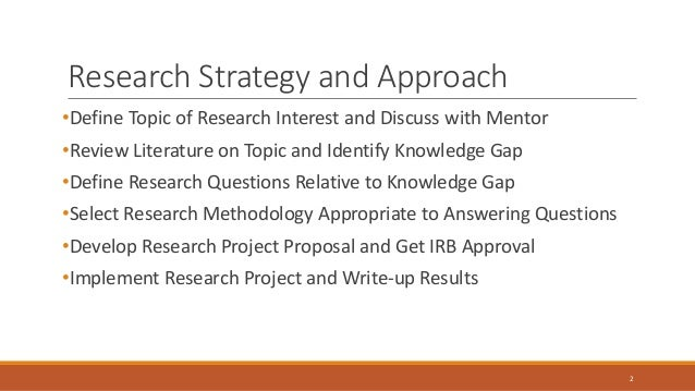 Research strategy phd thesis