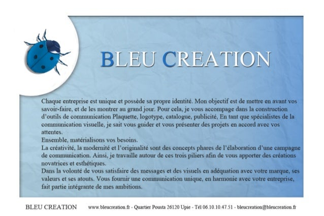 Bleucreationprésentation