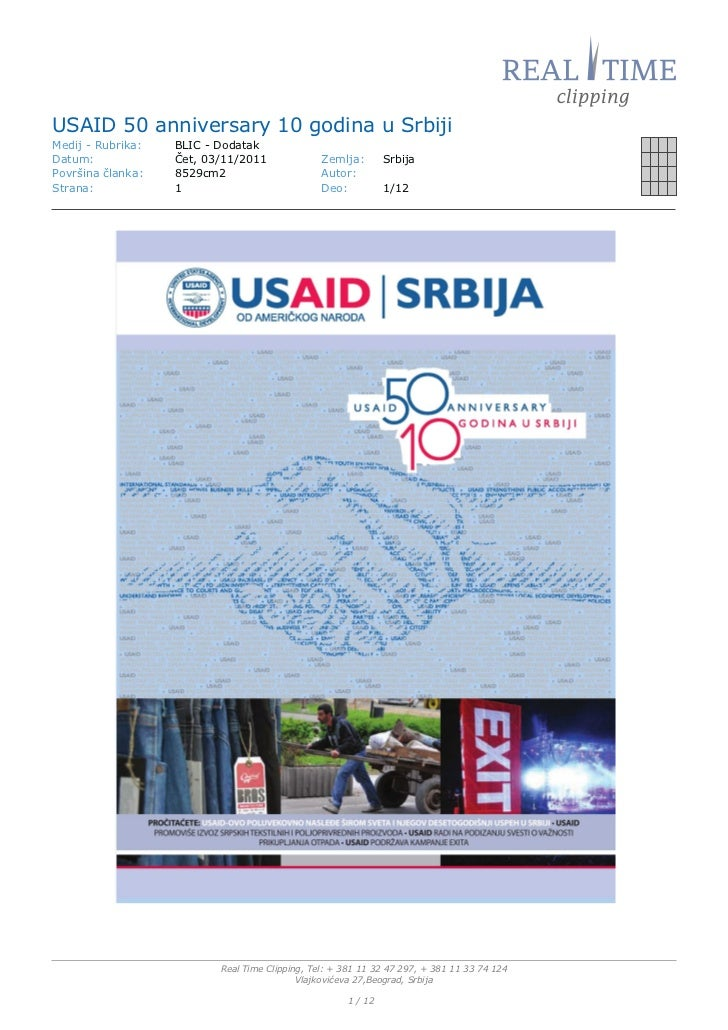 50 godina USAID-a Blic dodatak